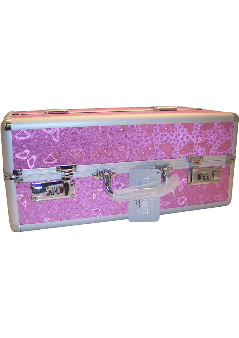 Lockable Vibrator Case Large Pink