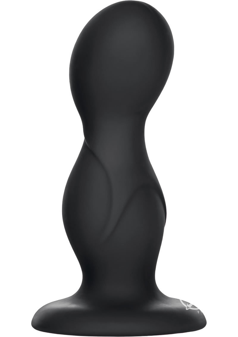 Coco Licious Back End Play Silicone Anal Probe Black 4.25 Inch