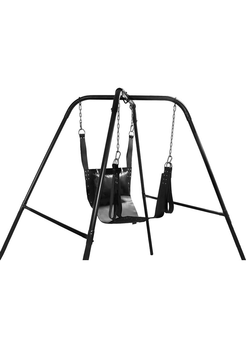 Trinity Vibes Ultimate Sex Swing Stand - Black